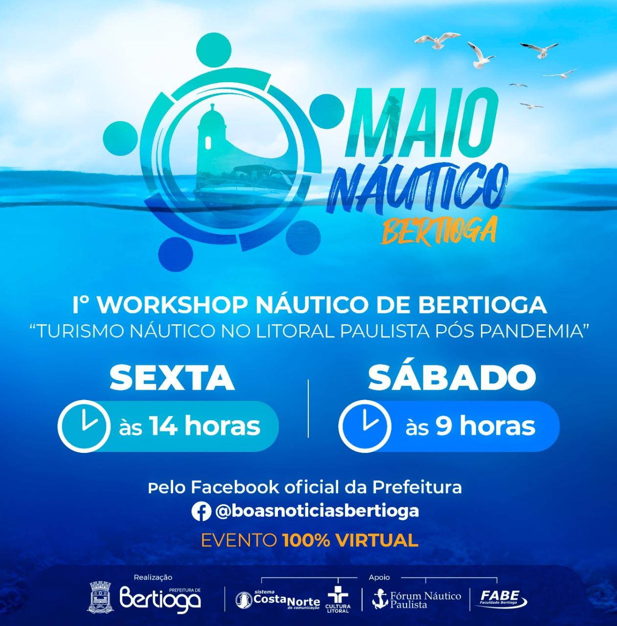 Turismo náutico é tema de evento online organizado por Bertioga