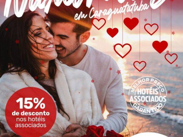Hotéis e Pousadas de Caraguá promovem ação conjunta e oferecem pacotes especiais para o Dia dos Namorados com 15% de Desconto.